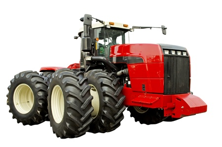 Powerful agricultural tractor photo