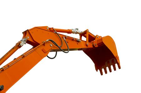 bailer: Orange bucket Stock Photo