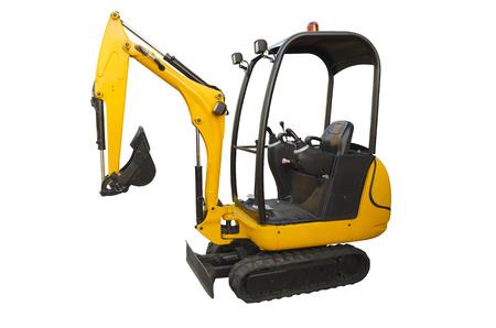 Small excavator Standard-Bild