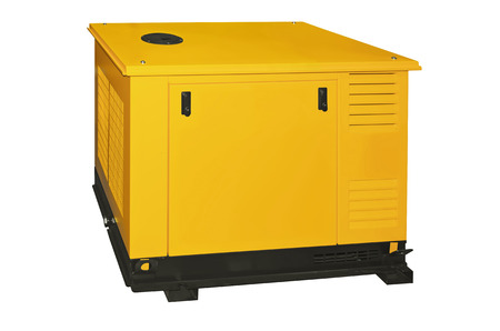 Generator on a white background photo