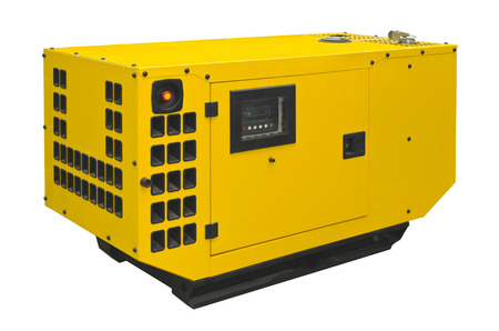 outage: Big generator on a white background