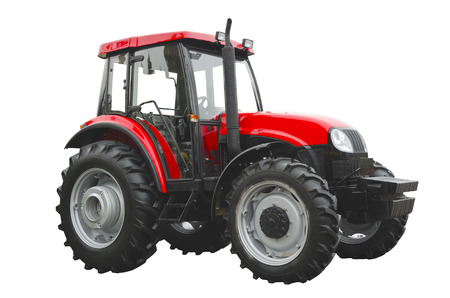 agronomics: agricultural tractor Stock Photo