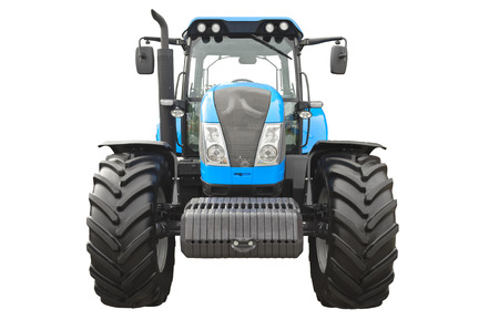 Agricultural tractor on a white background