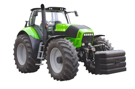 agronomics: Agricultural tractor on a white background