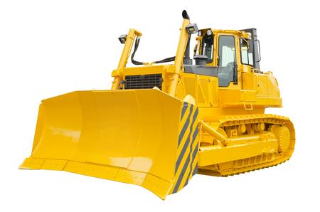 Grande bulldozer isolato su uno sfondo bianco