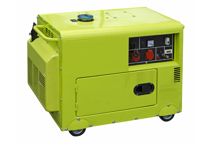 outage power: Big generator isolated on a white background Stock Photo