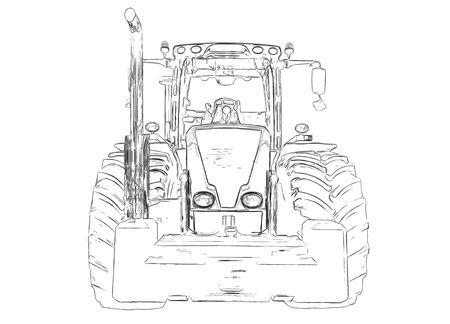 labranza: Contornos del tractor agrícola