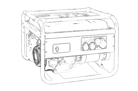 mains: Outlines of the generator Stock Photo