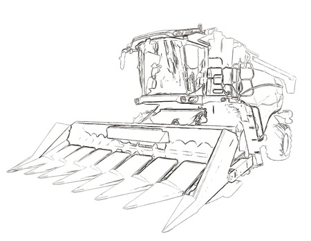 harvesting: Outlines of the agricultural harvester
