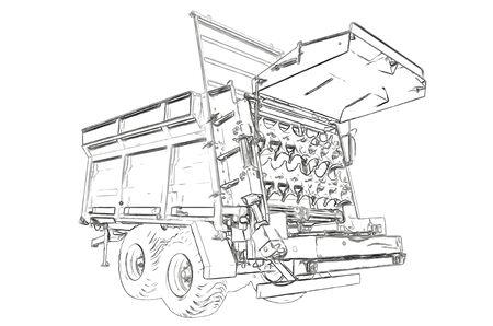 manure: Outlines of the fertilizer spreader