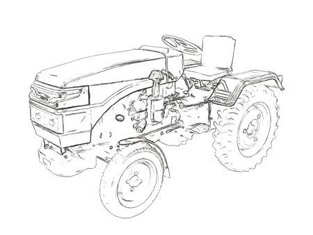tillage: Contornos del tractor agrícola