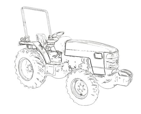 agriculture industry: Outlines of the agricultural tractor