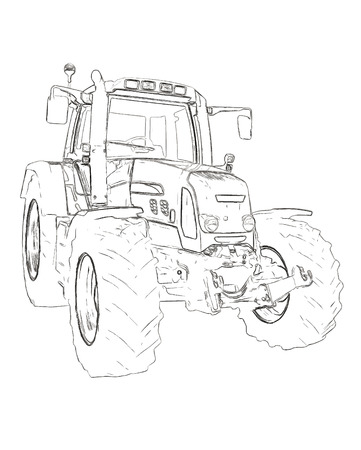 labranza: Outlines of the agricultural tractor