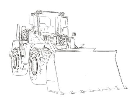 quarry: Outlines of the bulldozer