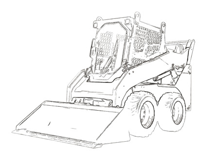 Outlines of the mini bulldozer
