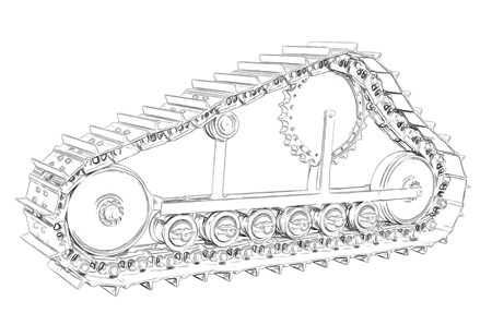 alfa: Outlines of the caterpillar Stock Photo