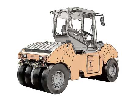 steamroller: Picture of the steamroller
