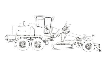 road scraper: Outlines of the grader