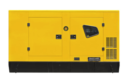 Big Generator auf einem weißen Hintergrund Standard-Bild - 81704787