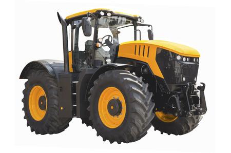 Landwirtschaftliche Zugmaschine auf einem weißen Hintergrund Standard-Bild - 82120254