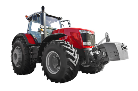 Agricultural tractor isolated on a white background Stock Photo