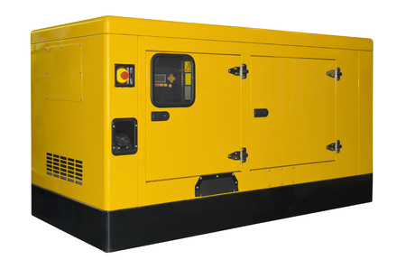 Big generator isolated on a white background Banco de Imagens