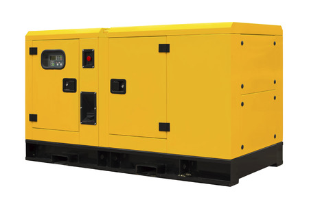 Big generator isolated on a white background Stock Photo