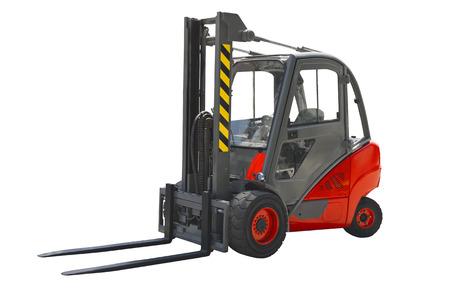 Forklift isolated on a white background Standard-Bild - 97966931