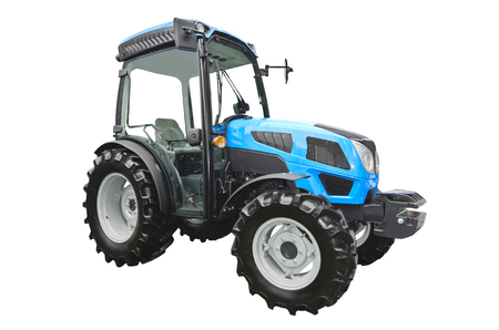 Agricultural tractor isolated on a white background Zdjęcie Seryjne