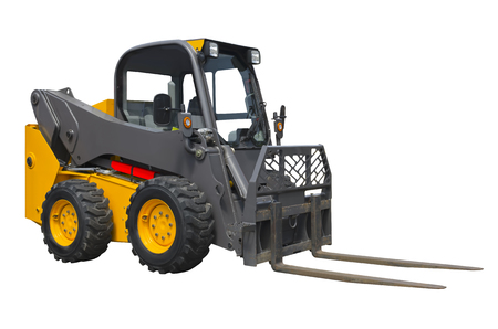 Small forklift isolated on a white background