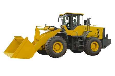 Front loader (side view) isolated on a white background