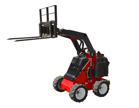 Mini forklift isolated on a white background