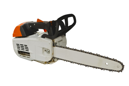 Cordless pole saw isolated on a white background
