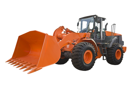 Front loader isolated on a white background Stock Photo