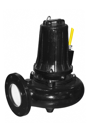 Submersible pump for sewage with suspended solids Stock Photo