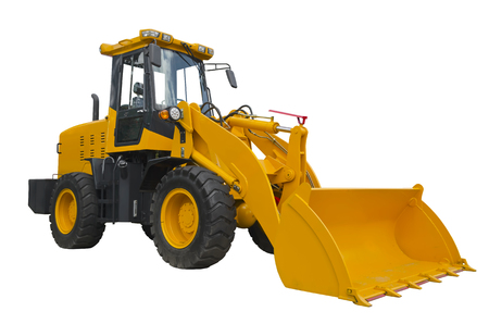 Front loader isolated on a white background Stock fotó