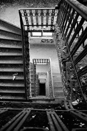 Staircase with a beautiful old staircase photo