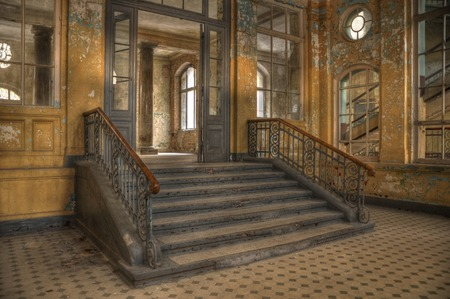Entrance to the bath house in Beelitz photo
