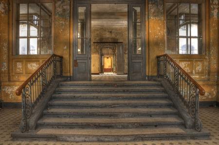 ベーリッツの浴室の家への入り口 写真素材