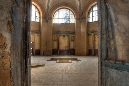 ベーリッツの療養所の古い浴室の家