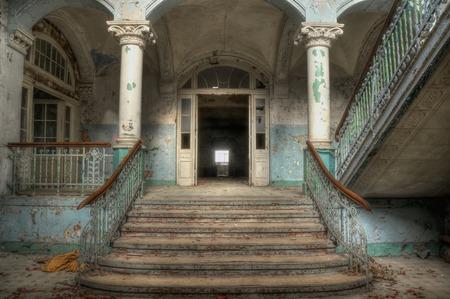 Entrance to the sanatorium in Beelitz photo