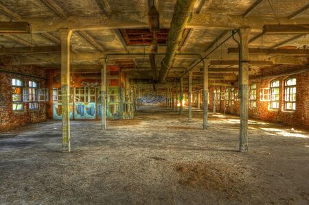 Abandoned administration of an old factory