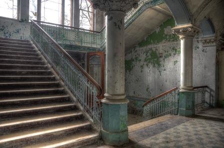 ベーリッツの健康リゾートの階段入り口 写真素材