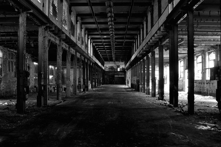 abandoned warehouse: Large abandoned warehouse Stock Photo
