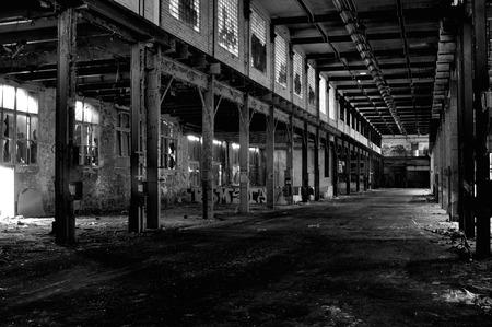 abandoned warehouse: Large abandoned warehouse Stock Photo