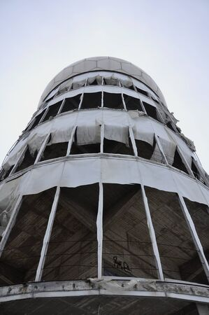 Deserted tower of the NSA on the Teufelsberg Stock Photo