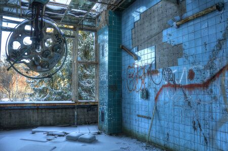 historia clinica: Sala de operaciones en los sanatorios Beelitz Foto de archivo