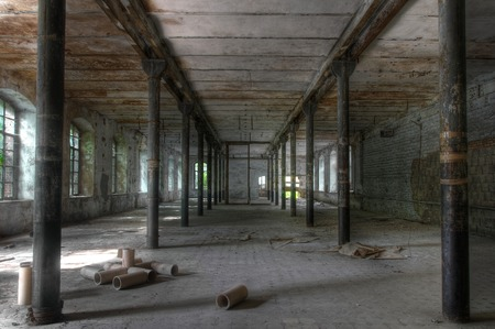 abandoned warehouse: Warehouse in an abandoned paper mill