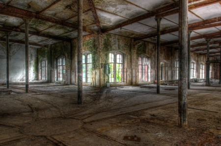 abandoned warehouse: Soft in an abandoned warehouse