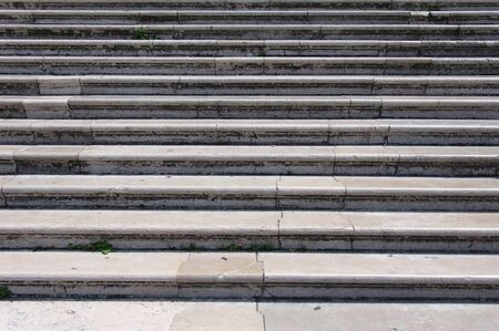 Marble steps in front of a church in Venice photo